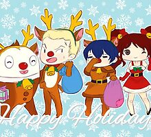[P4] Happy Holidays - 2nd years - blue by evandrelical
