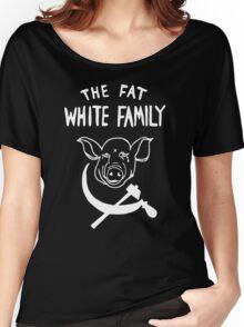 Fat White Family - White on black Women's Relaxed Fit T-Shirt