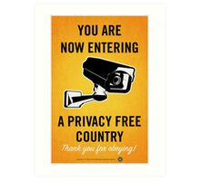 Privacy Free Country Art Print