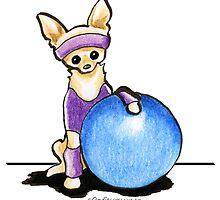 Chihuahua Fitness Nut by offleashart