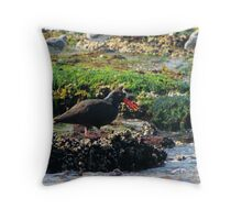 Red Beak Throw Pillow