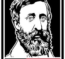 "Henry David Thoreau ""Disobey""  by LibertyManiacs"