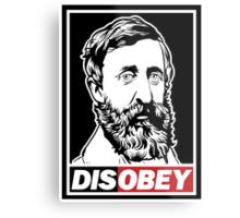 "Henry David Thoreau ""Disobey""  Metal Print"