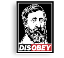"Henry David Thoreau ""Disobey""  Canvas Print"
