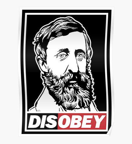 "Henry David Thoreau ""Disobey""  Poster"