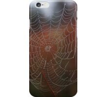 spider web with droplets iPhone Case/Skin