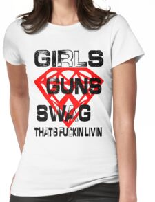 THATS FUCKIN RIGHT Womens Fitted T-Shirt