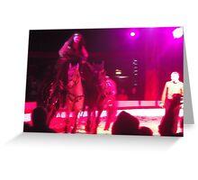 Zippos Circus/Horse Riding -(160413)- Digital photo/FujiFilm FinePix AZ350 Greeting Card