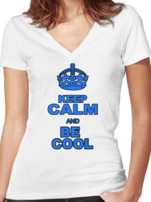 BE COOL Women's Fitted V-Neck T-Shirt