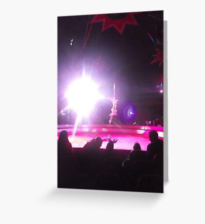 Zippo's Circus/High live wire act -(150413)- Digital Photo/FujiFilm FinePix AX350 Greeting Card