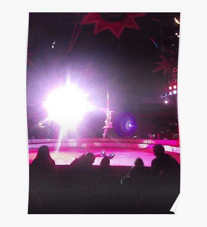 Zippo's Circus/High live wire act -(150413)- Digital Photo/FujiFilm FinePix AX350 Poster