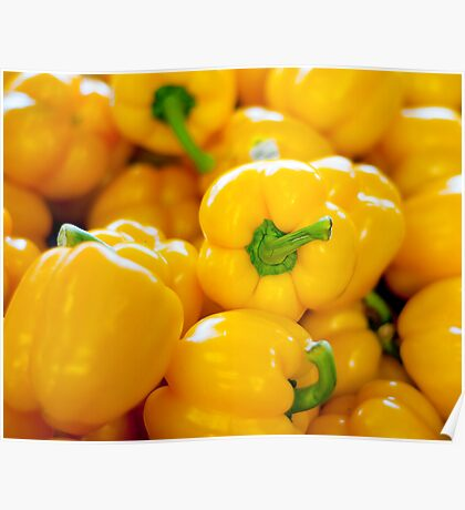 Yellow Bell Peppers Poster