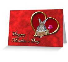 Mother's Day Bunny Rabbit Greeting Card
