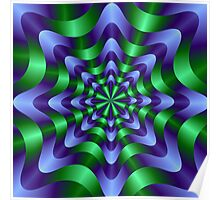 Blue and Green Swirl Poster
