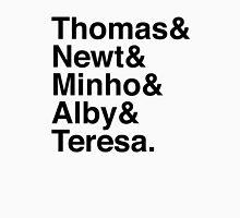 Thomas & Newt & Minho & Alby & Teresa. Unisex T-Shirt