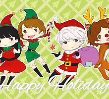 [P4] Happy Holidays - 3rd years - green by evandrelical