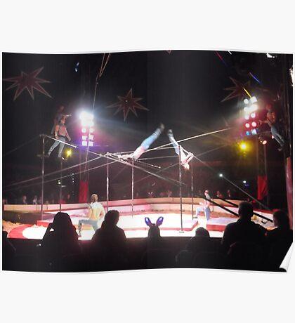 Zippo's Circus/Cuban Troupe Acrobats -(150413)- Digital Photo/FujiFilm FinePix AX350 Poster