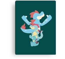 Pokemon Totodile Evolution Line Canvas Print
