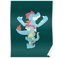 Pokemon Totodile Evolution Line Poster