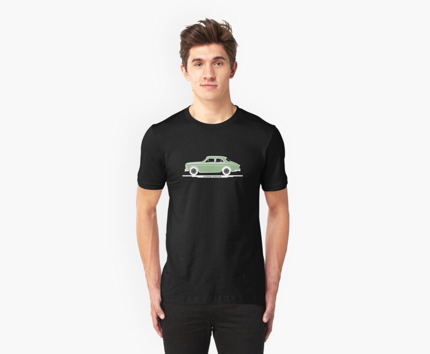 Volvo Amazon Lite Green for Blk Shirts by Frank Schuster