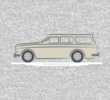 Volvo Amazon Station Wagon Kombi White for Black Shirts One Piece - Long Sleeve