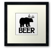 BEER ( Deer and Bear Fusion) Framed Print