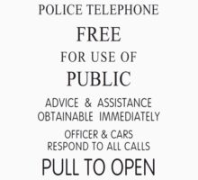 TARDIS Police Box Sign by Flaaffy
