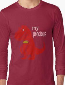 T-Rex Precious Taco funny nerd geek geeky Long Sleeve T-Shirt
