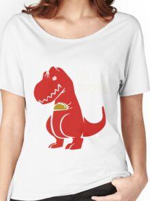 T-Rex Precious Taco funny nerd geek geeky Women's Relaxed Fit T-Shirt