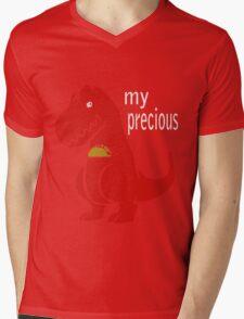 T-Rex Precious Taco funny nerd geek geeky Mens V-Neck T-Shirt