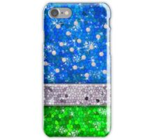 Green Glitter Bling Turquoise Blue Save The Earth iPhone Case/Skin