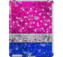 Patriotic Glitter Bling Red White Blue Diamonds Pearls iPad Case/Skin