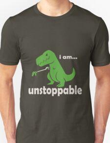 Unstoppable T-Rex funny nerd geek geeky T-Shirt