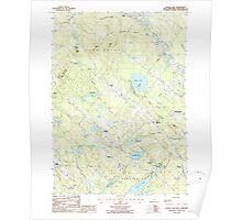 USGS TOPO Map New Hampshire NH Baxter Lake 329477 1987 24000 Poster