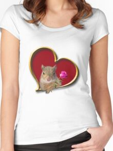 Mother's Day Squirrel Women's Fitted Scoop T-Shirt
