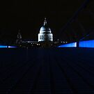 St Paul's Cathedral ( Blue Stripe ) by wiggyofipswich