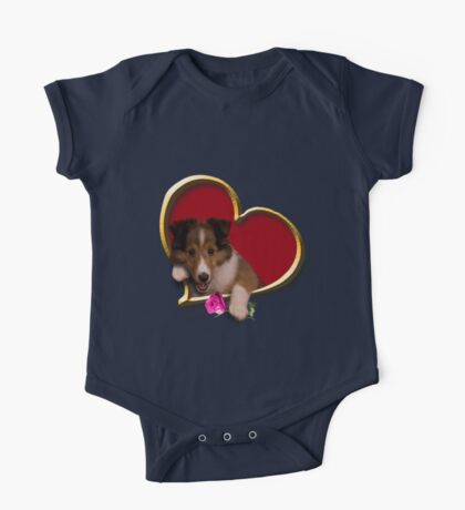 Mother's Day Sheltie Puppy One Piece - Short Sleeve