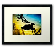 Sunset on Jubilee Lake Framed Print