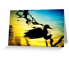 Sunset on Jubilee Lake Greeting Card