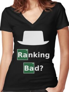 Ranking Bad? White Hat SEO - Breaking Bad Parody Women's Fitted V-Neck T-Shirt