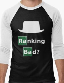 Ranking Bad? White Hat SEO - Breaking Bad Parody Men's Baseball ¾ T-Shirt