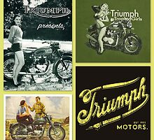 Triumph retro collage by ©The Creative  Minds