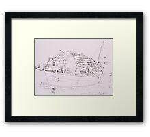 Hoi An III (Boat) Framed Print