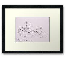 Hoi An IV (Ship) Framed Print