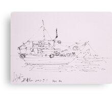 Hoi An IV (Ship) Canvas Print