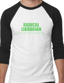 Radical Librarian (Green) - Online privacy Men's Baseball ¾ T-Shirt