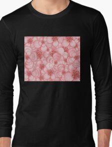 Pink Flower Cloud Long Sleeve T-Shirt