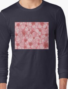 Pink Flower Cloud Long Sleeve T-Shirt