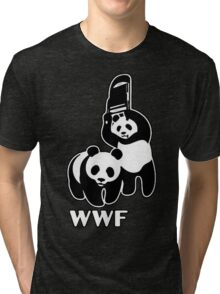 WWF (black and white ) Tri-blend T-Shirt
