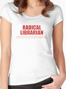 Radical Librarian (Red) - Online privacy Women's Fitted Scoop T-Shirt